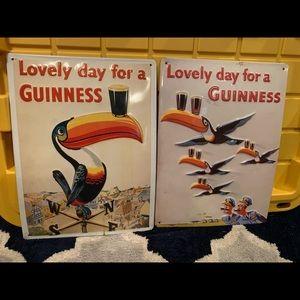 Guinness metal sign